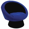 Saucer Chair, Black / Blue