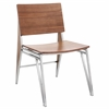 LumiSource Tetra Chair  Walnut, Set of 2