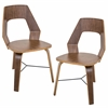 Trilogy Chair  Walnut, Set of 2