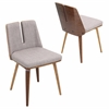 Varzi Chair, Walnut / Taupe