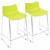 Arrow Contemporary Counter Stool in Lime Green -Set of 2