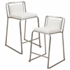 LumiSource Cascade Stackable Counter Stool  White, Set of 2