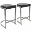 Demi Contemporary Counter Stools in Black -Set of 2