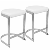 Demi Contemporary Counter Stools in White -Set of 2