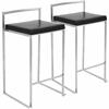 Fuji Stackable Counter Stool  Black, Set of 2