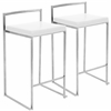 LumiSource Fuji Stackable Counter Stool  White, Set of 2