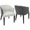 Ashland Contemporary Dining / Accent Chair in Cream and Black