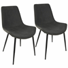 Duke Industrial Dining Chair in Black and Grey -Set of 2