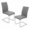 LumiSource Foster Dining Chair  Grey, Set of 2