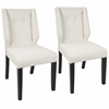 Rosario Contemporary Dining Chair in Walnut and Cream -Set of 2