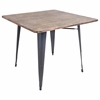 Oregon Dining Table, Grey / Wood