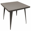 LumiSource Austin Dining Table, Antique Finish