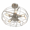 LumiSource Ozzy Ceiling Fan, Satin Nickel