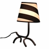 LumiSource Woof Table Lamp, Black / White