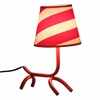 LumiSource Woof Table Lamp, Red / White