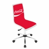 LumiSource Coca-Cola Printed Office Chair, White / Red