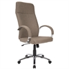 LumiSource Ambassador Contemporary Office Chair in Brown Fabric