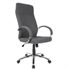 LumiSource Ambassador Contemporary Office Chair in Grey Fabric