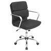 LumiSource Bachelor Height Adjustable Office Chair with Swivel, Black