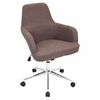 LumiSource Degree Height Adjustable Office Chair with Swivel, Grey