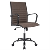 LumiSource Master Contemporary Fabric Office Chair in Brown, Black / Brown Fabric