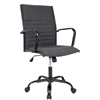 LumiSource Master Contemporary Fabric Office Chair in Charcoal, Black / Charcoal Fabric