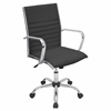 LumiSource Master Height Adjustable Office Chair with Swivel, Black
