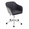 LumiSource Shelton Modern Office Chair in Black and Grey