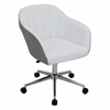 LumiSource Shelton Modern Office Chair in Grey and White