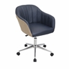 Shelton Modern Office Chair in Tan and Navy