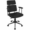 Sigmund Contemporary Adjustable Office Chair in Black
