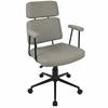 Sigmund Contemporary Adjustable Office Chair in Grey