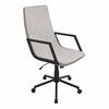 LumiSource Senator Height Adjustable Office Chair with Swivel, Tan / Tan