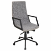 LumiSource Senator Height Adjustable Office Chair with Swivel, Black / Tan