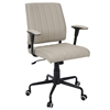 LumiSource Cache Contemporary Office Chair in Biege with Black Metal