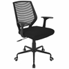 LumiSource Network Height Adjustable Office Chair with Swivel in Black
