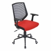 LumiSource Network Height Adjustable Office Chair with Swivel, Black / Red