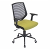 LumiSource Network Height Adjustable Office Chair with Swivel, Black / Green