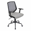 Network Height Adjustable Office Chair with Swivel, Black / Silver