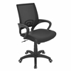 Officer Height Adjustable Office Chair with Swivel, Black