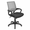 LumiSource Officer Height Adjustable Office Chair with Swivel, Silver