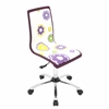 LumiSource Printed Height Adjustable Office Chair with Swivel, Daisies