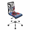 Printed Height Adjustable Office Chair with Swivel, Graffiti
