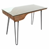 LumiSource Avery Desk, Walnut / Clear / Black