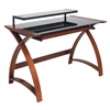 LumiSource Bentley Desk, Wenge / Black
