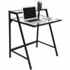LumiSource 2-Tier Desk, Black / Clear
