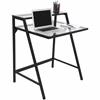2-Tier Desk, Black / Clear