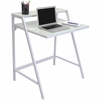 LumiSource 2-Tier Desk, White