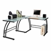 Gamma Desk, Black Frame / White