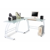 LumiSource Gamma Desk, White Frame / White